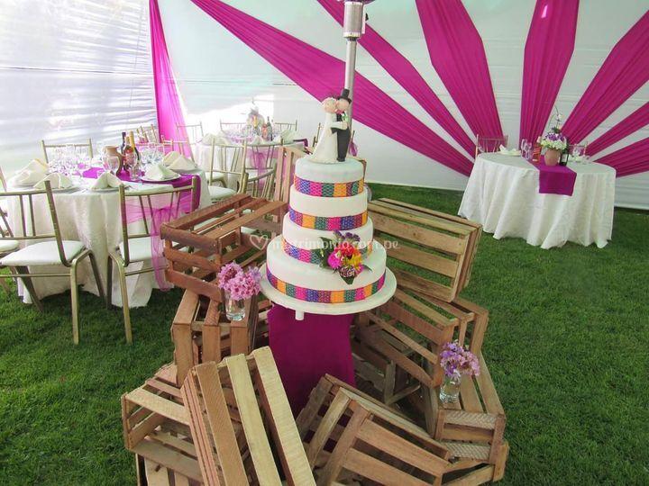 Bonita torta de matrimonio