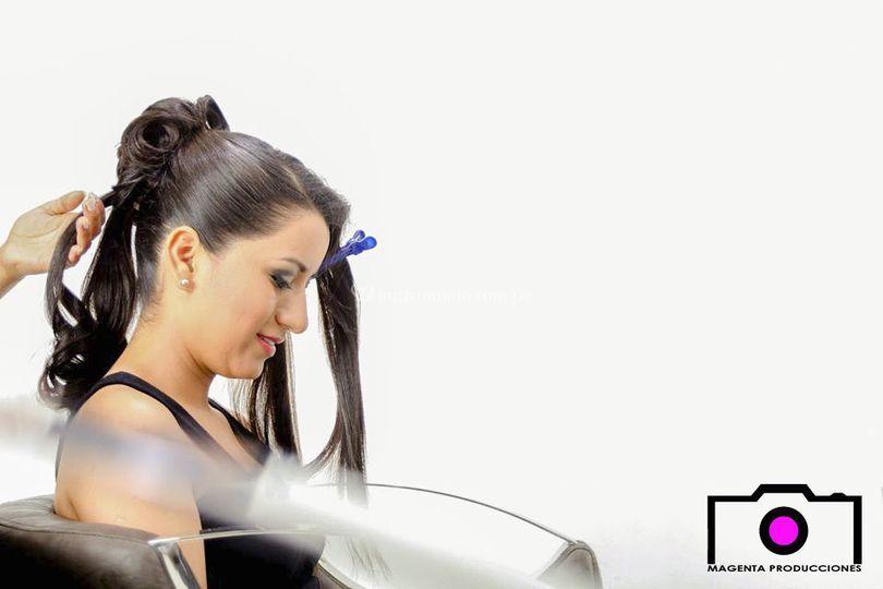 El peinado de la novia