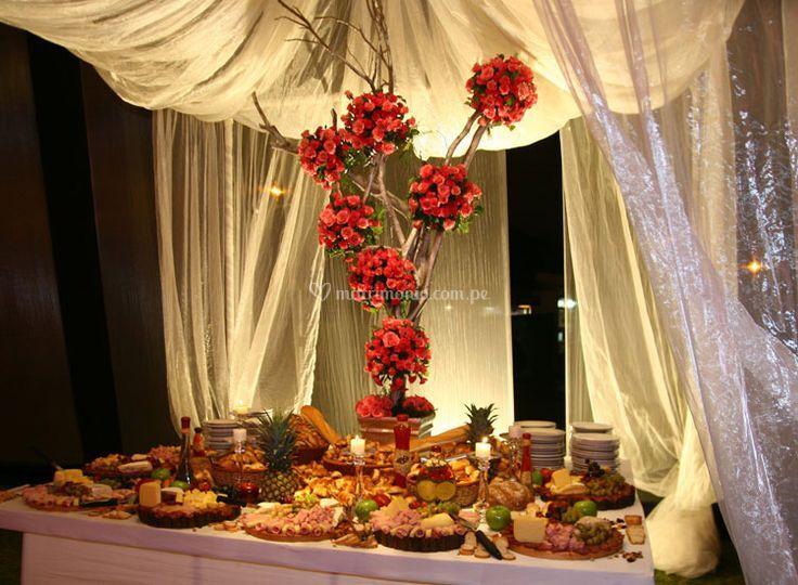 Mesa de queso estilo rustico