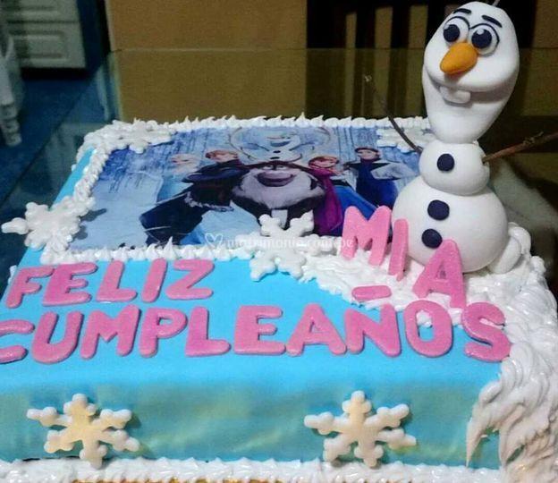 Torta personalizada de Frozen
