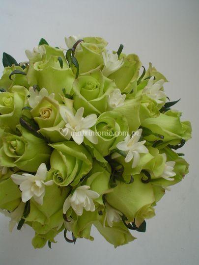 Bouquets en tonos verdes