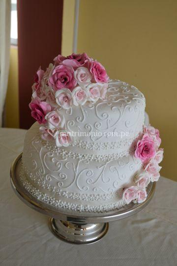 Torta de boda civil