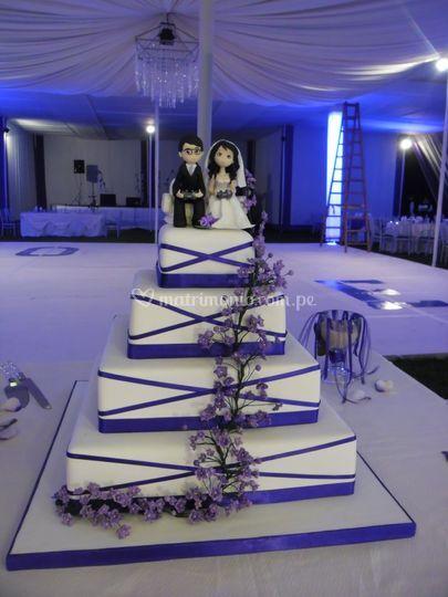Torta de boda personalizada