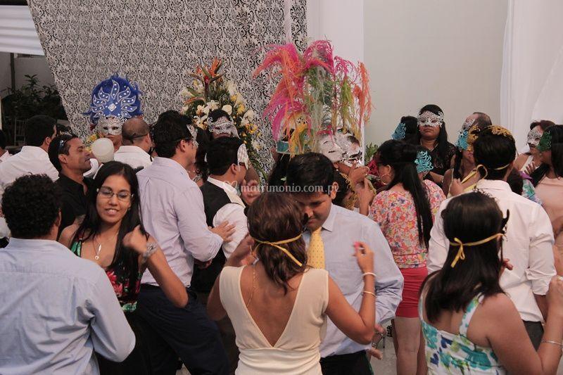 En la boda de Katia y Omar