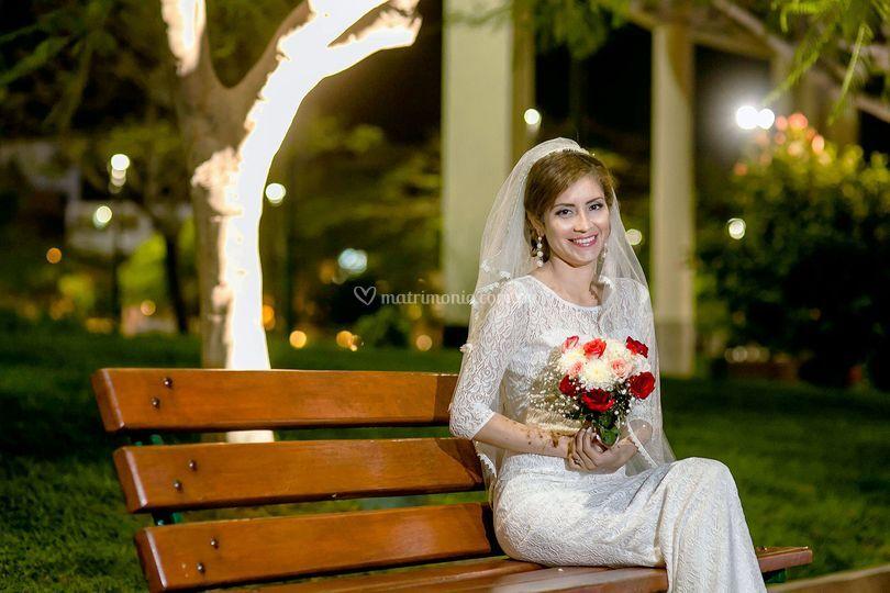 Fiorella, el día de su boda
