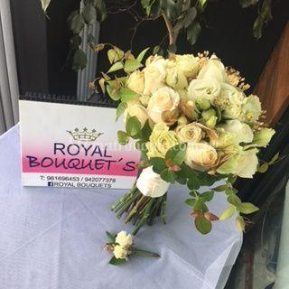 Bouquet ivory dorado rositas b