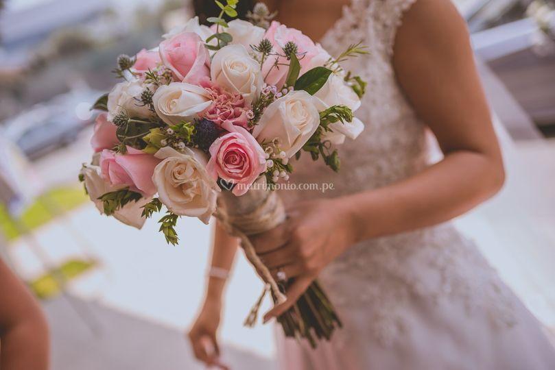 Lindo bouquet boda campestre