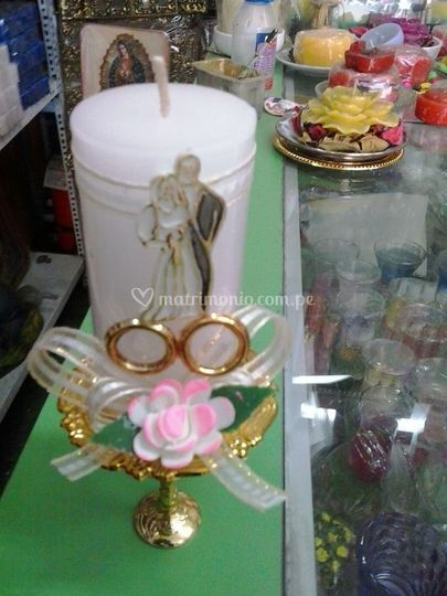 Velas decorativas para matrimonios