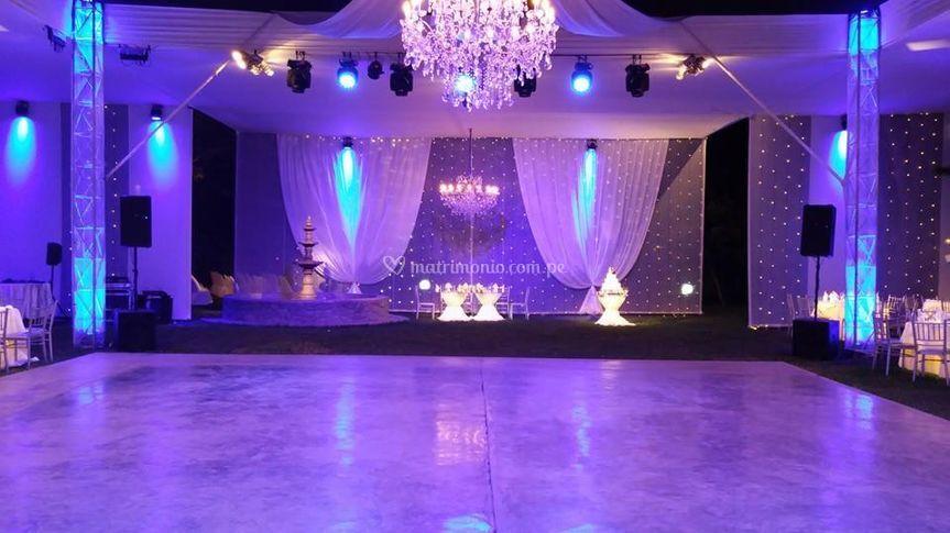 Iluminación para la pista de baile