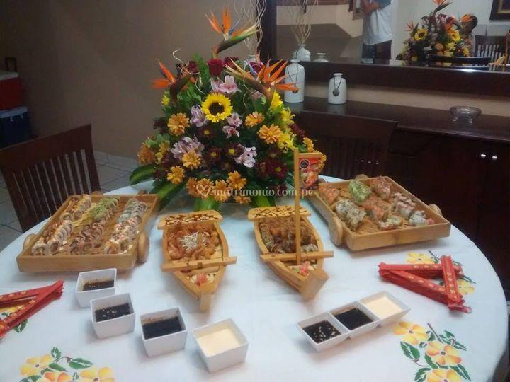 Presentacion de sushi