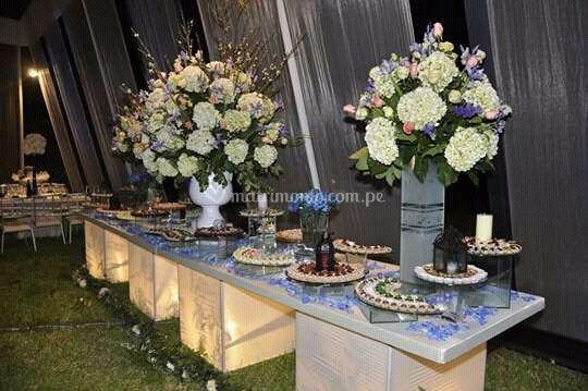 Presentación de la mesa buffet