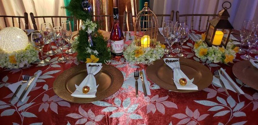 Mesas de decoradas