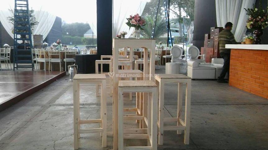 Mesa s altas de bar en wash
