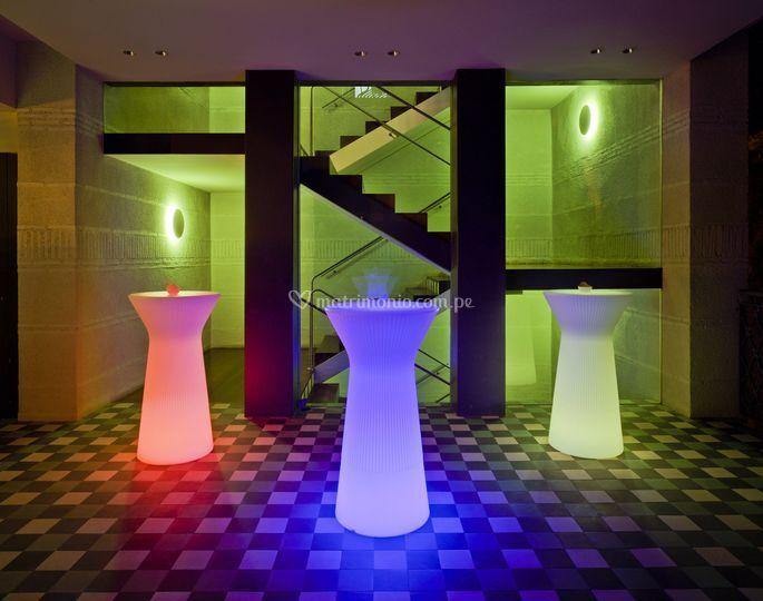Mesas altas led