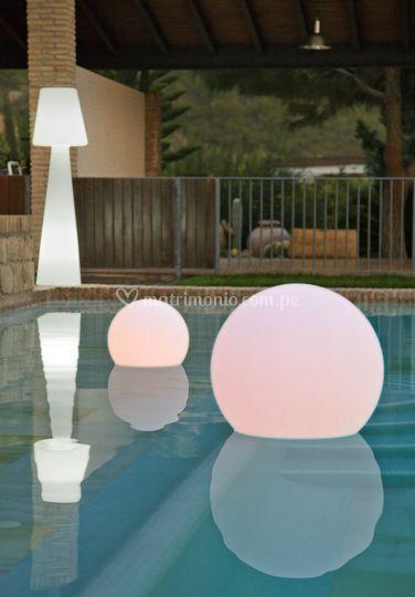 Esferas y lámpara led