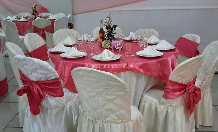 Salón con decoración