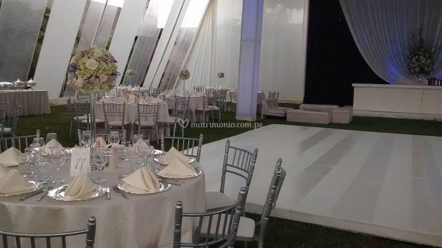 Mesas numeradas por invitados