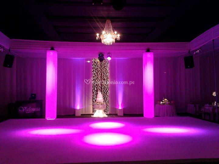 Pista de baile e iluminación