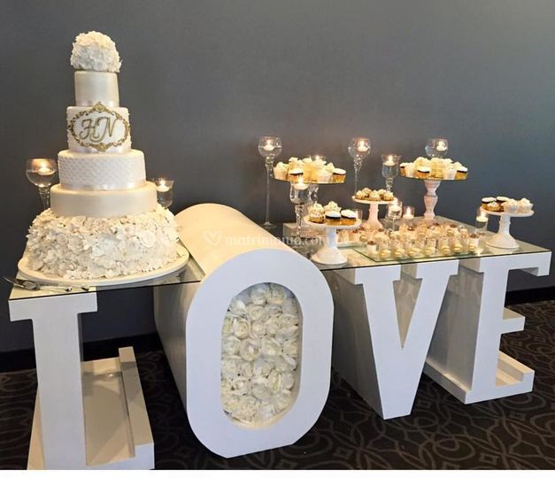 Hermosa mesa de dulces