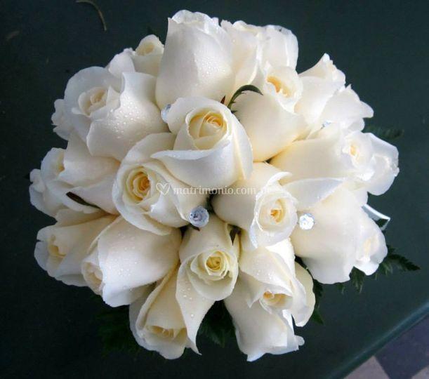 Bouquet de rosas blanco