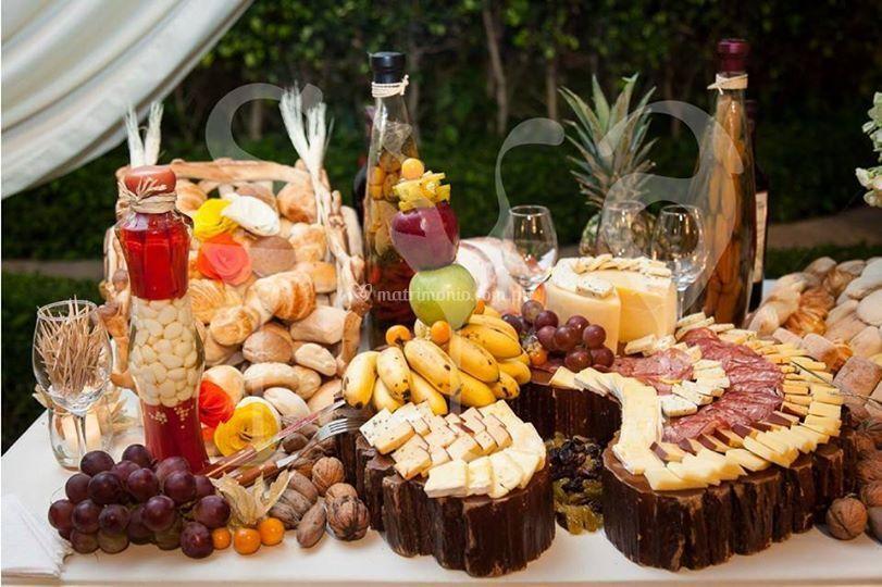 Quesos y frutas