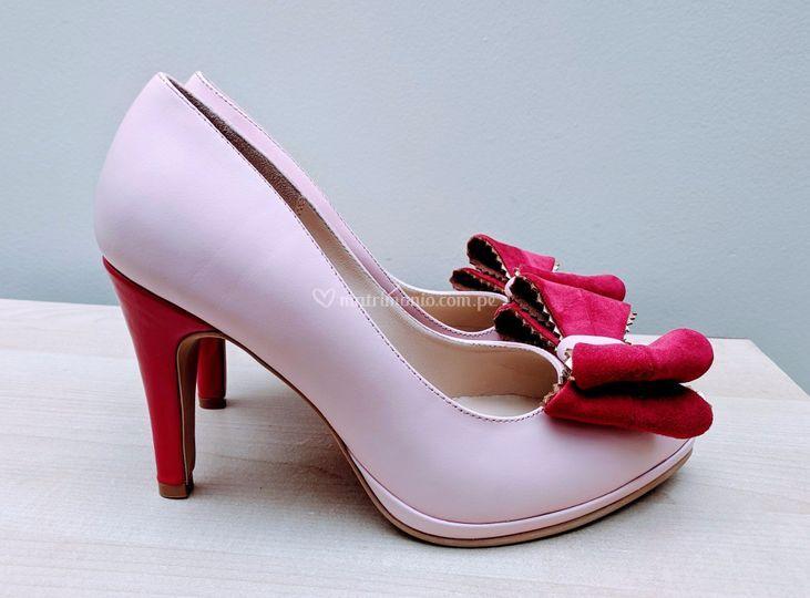 Cuero rosa y cereza