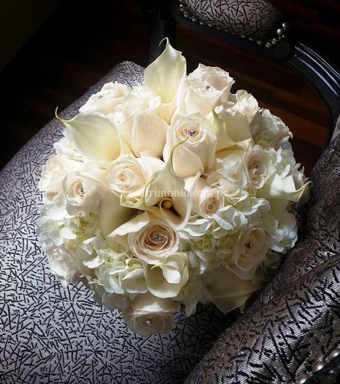 Bouquet rosas y hortencia