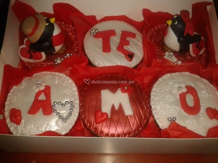 Mensajes de amor en cupcakes