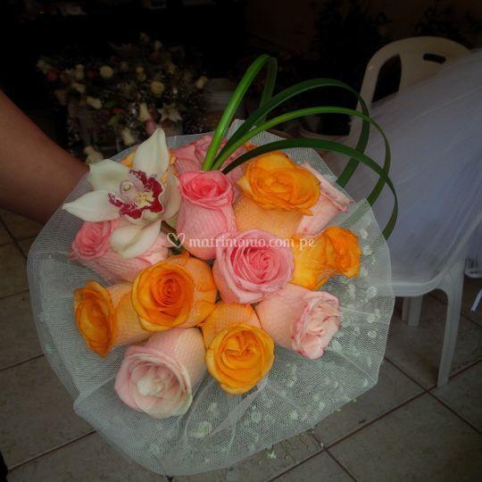 Bouquet de nuestra novia leyla