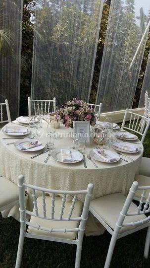 Disposición de las mesas