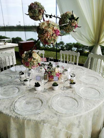Decoracion en la mesa