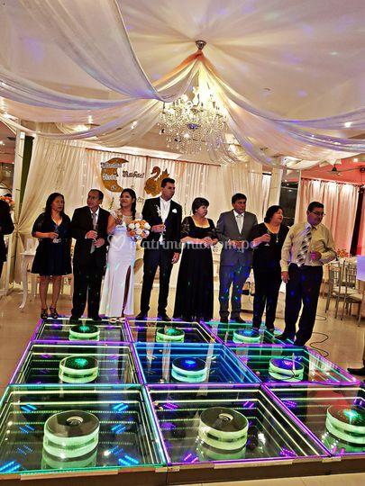 Matrimonio con pista