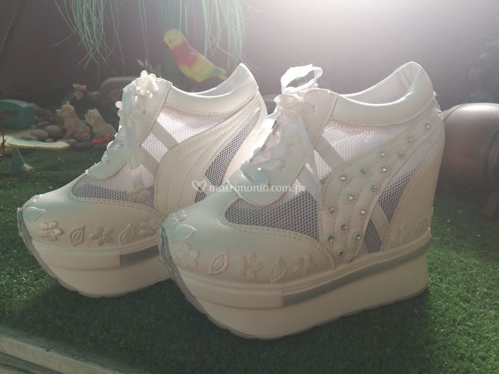 Zapatillas de novia taco 13