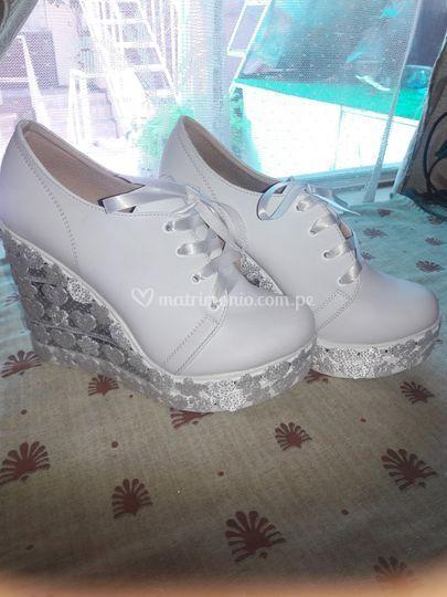 Zapatillas de novia taco 10