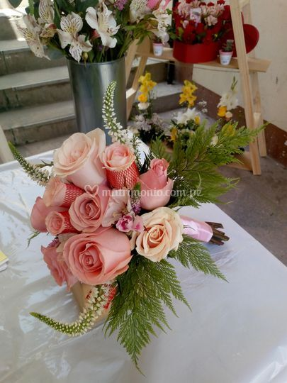 Boquet romántico rose