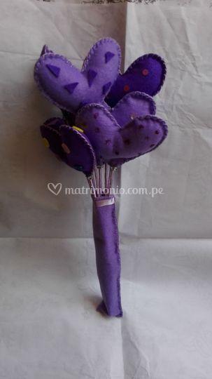 Bouquet de corazones
