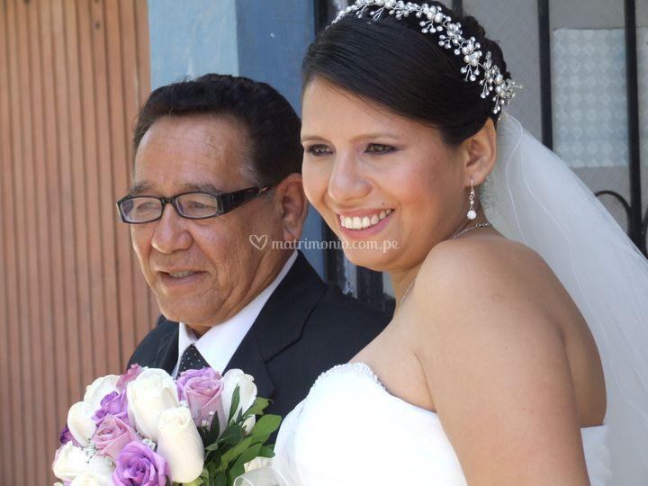 La novia y su padre