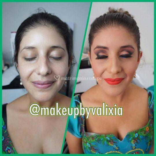 Feliz con su makeup