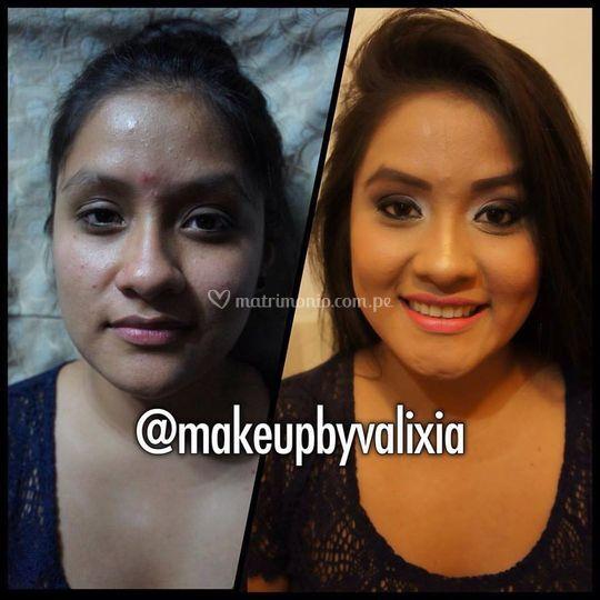 Cliente feliz con su makeup
