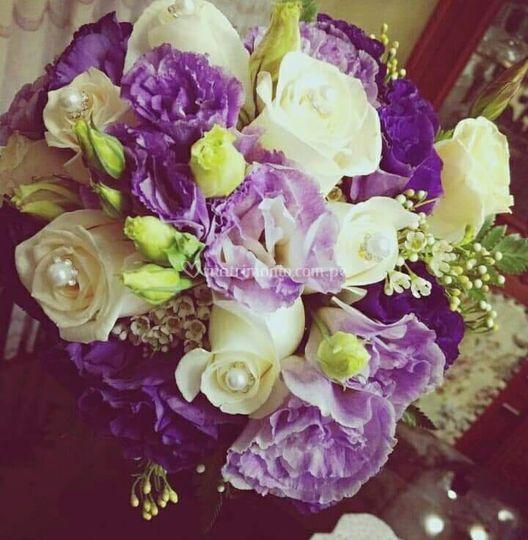 Bouquet en tonos lilas & paste