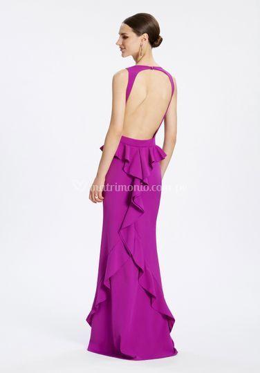 Vestido de fiesta lila