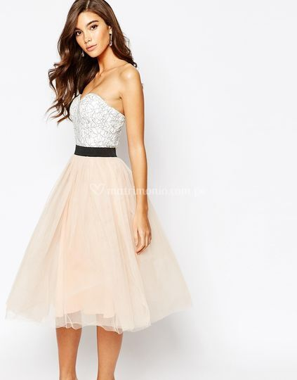 Vestido de fiesta falda tul