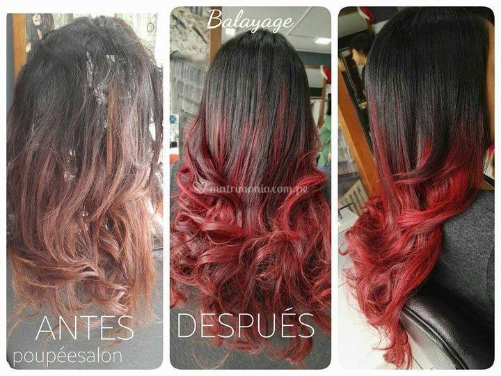 Color en el pelo