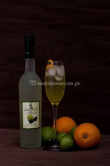Aperitivo Limoncello champán