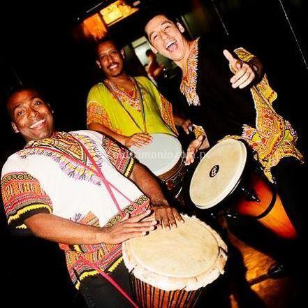 Percusionistas afro