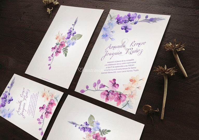 Parte con flores violetas