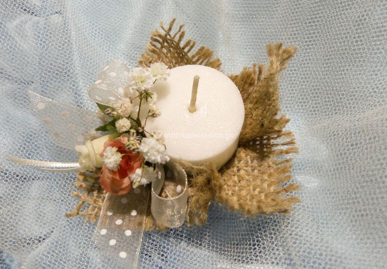 Recuerdos velas decoradas