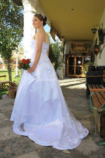 Vestido de novia angelical