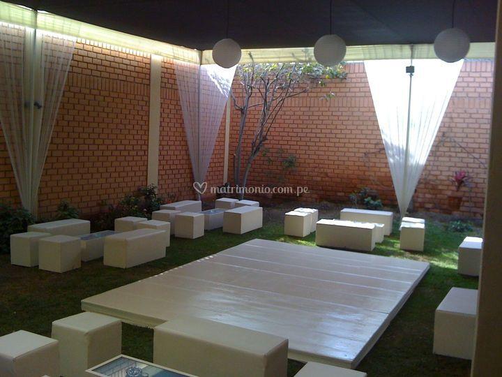 Fiestas con sala lounge