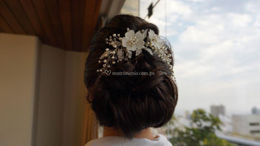 Peinado recogido novia